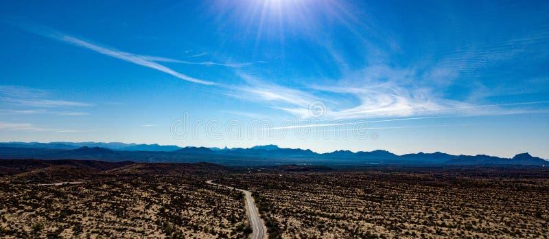 Vista aerea del parco regionale di McDowell vicino a Phoenix, Arizona fotografia stock libera da diritti