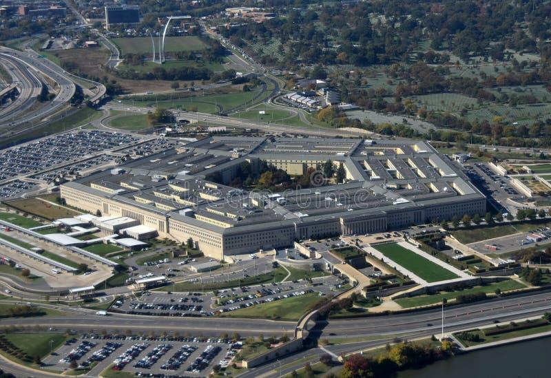 Vista aerea del Pentagono fotografia stock