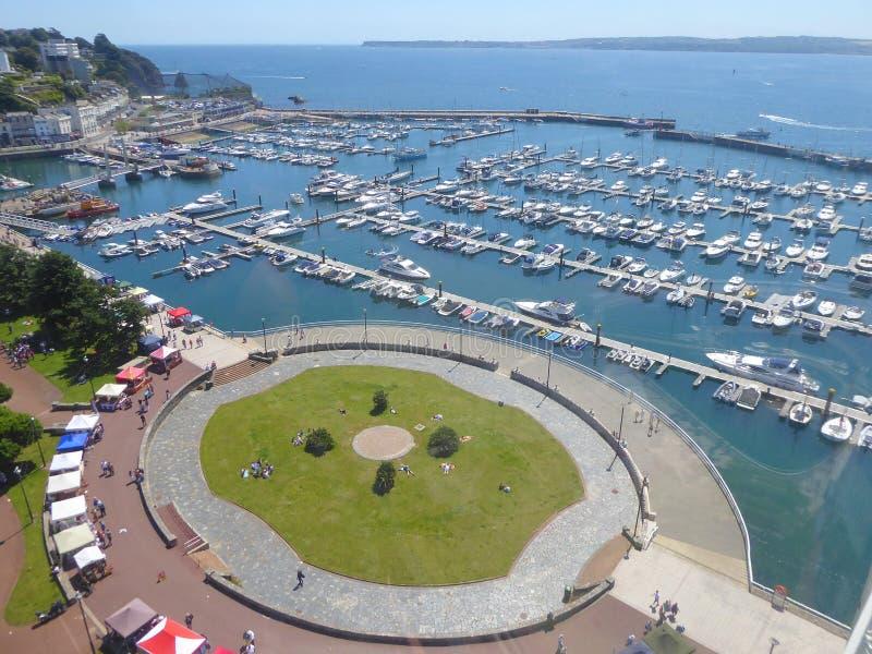 Vista aerea del porticciolo dell'yacht immagini stock