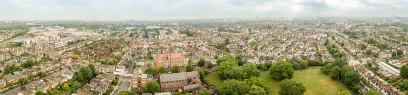 Vista aerea del sobborgo di Londra immagini stock libere da diritti