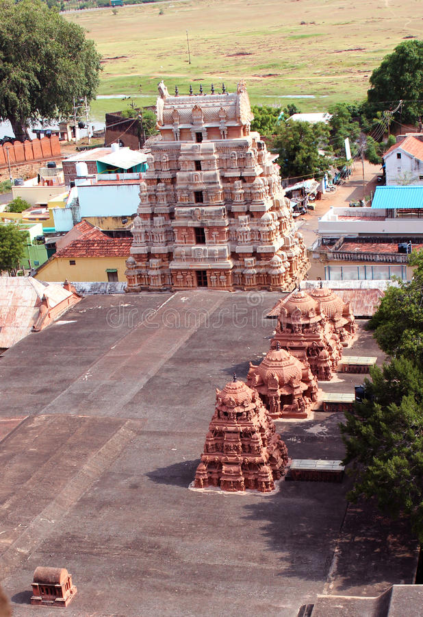 Vista aerea del tempio fotografia stock
