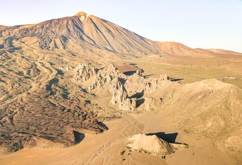 Vista aerea dell'angolo alto del parco nazionale di Teide in Tenerife immagini stock