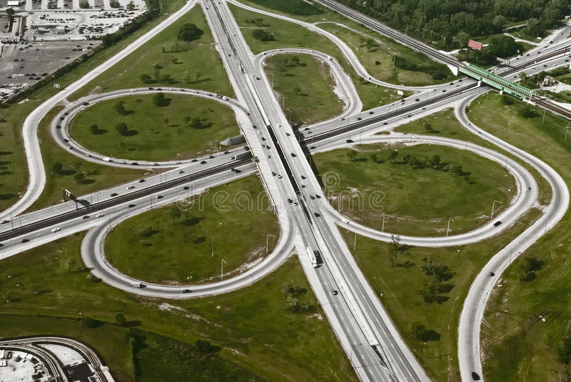 Vista aerea dell'autostrada fotografia stock libera da diritti