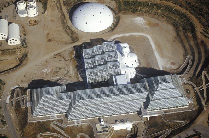 Vista aerea dell'ecosistema incluso di biosfera 2 ad Oracle in Tucson, AZ fotografia stock