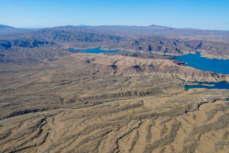 Vista aerea dell'idromele del lago immagini stock