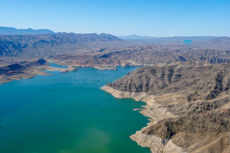 Vista aerea dell'idromele del lago immagini stock libere da diritti