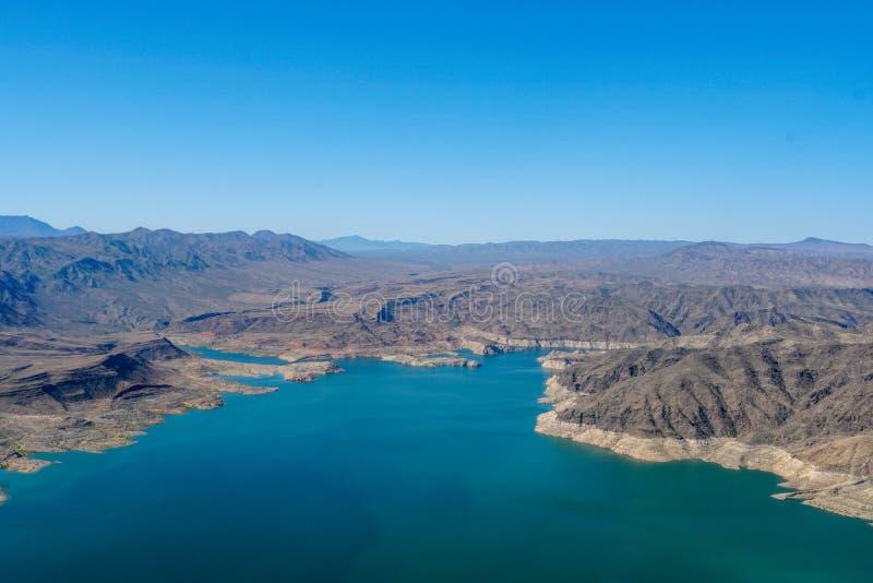 Vista aerea dell'idromele del lago fotografia stock