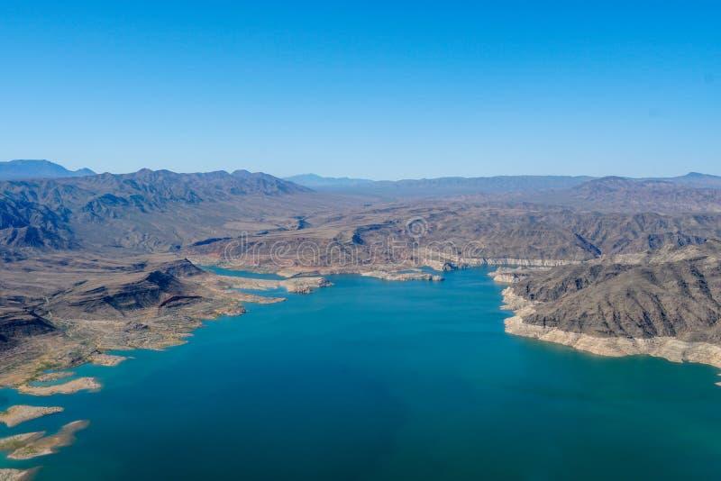 Vista aerea dell'idromele del lago fotografia stock libera da diritti