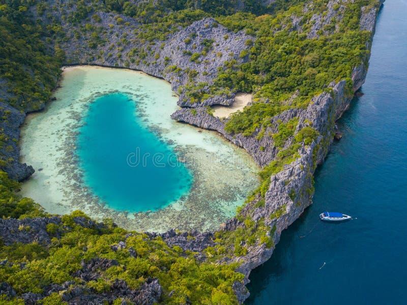 Vista aerea dell'isola del pettine dei galli fotografie stock libere da diritti