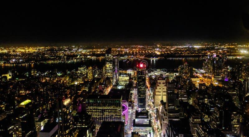 Vista aerea dell'isola di Manhattan, New York, visto dall'Empire State Building fotografie stock