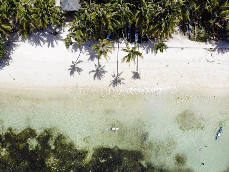 Vista aerea dell'isola di Siquijor, le Filippine fotografia stock