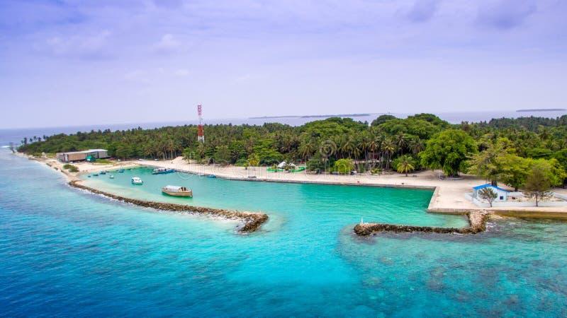 Vista aerea dell'isola locale fotografia stock libera da diritti
