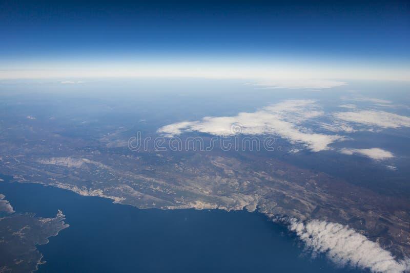 Vista aerea dell'Italia fotografia stock