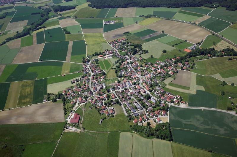 Vista aerea della Baviera fotografie stock