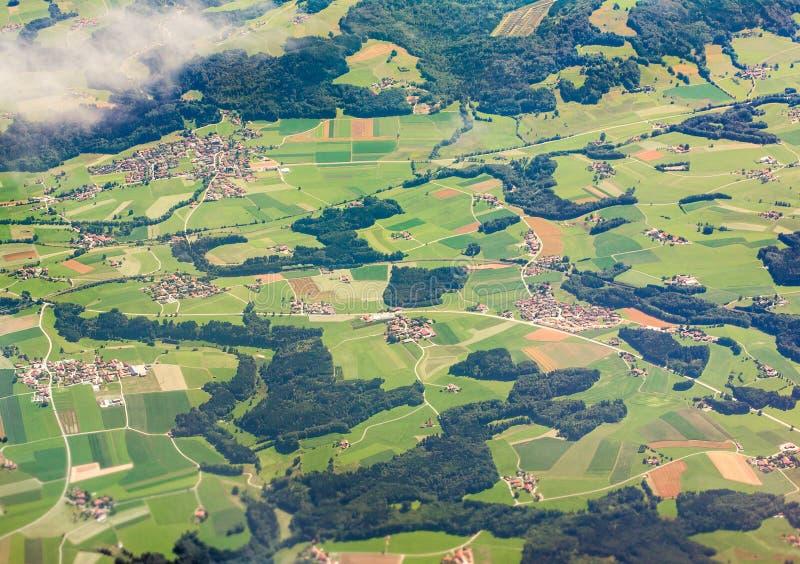 Vista aerea della Baviera, Germania immagini stock libere da diritti