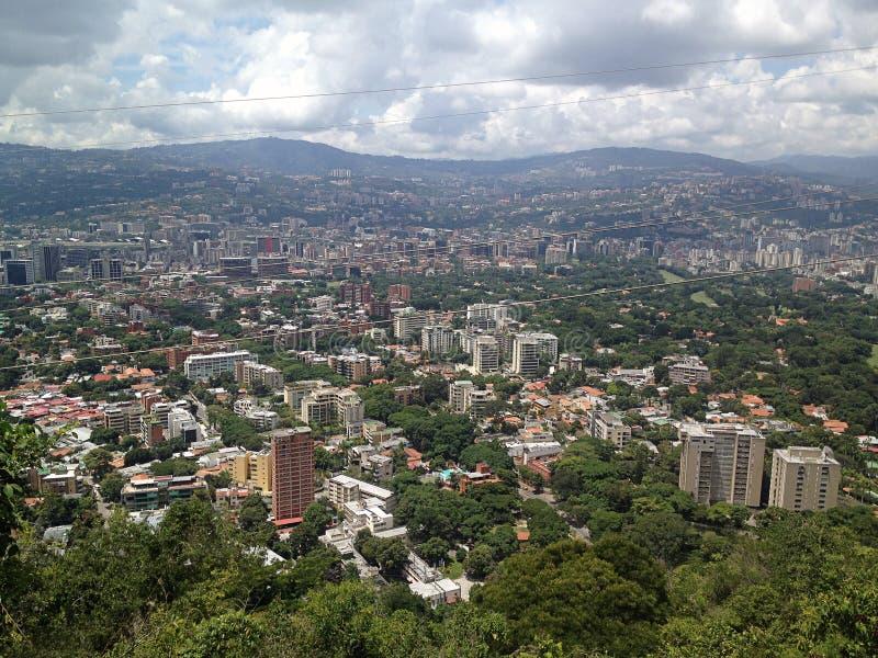 Vista aerea della capitale Caracas del Venezuela immagini stock libere da diritti