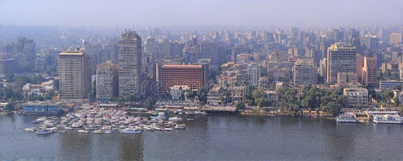 Vista aerea della capitale di Il Cairo dell'orizzonte dell'Egitto fotografia stock libera da diritti