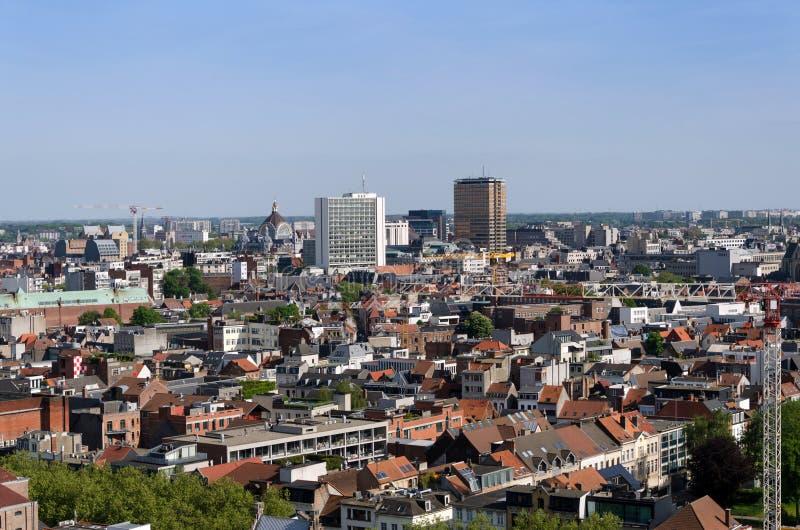 Vista aerea della città di Anversa, Belgio fotografie stock