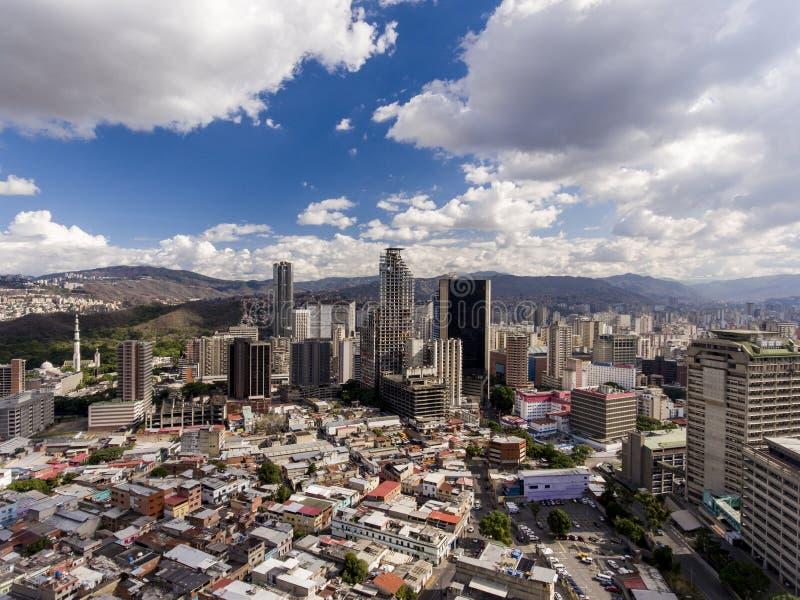 Vista aerea della città di Caracas, Venezuela fotografie stock libere da diritti