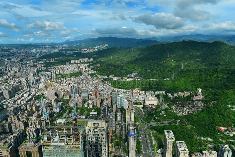 Vista aerea della città di Taipei immagine stock