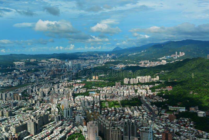 Vista aerea della città di Taipei immagini stock