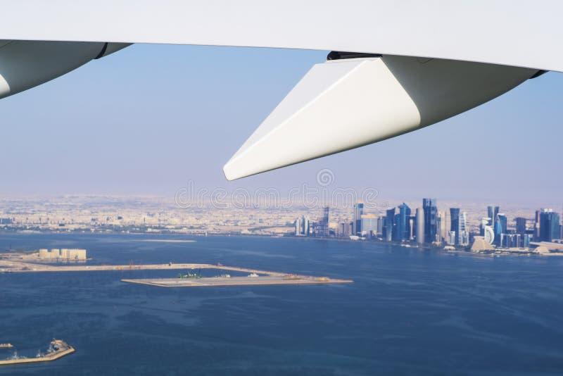 Vista aerea della città Doha, capitale del Qatar immagini stock