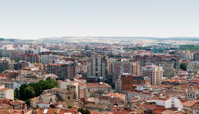Vista aerea della città spagnola di Burgos immagini stock