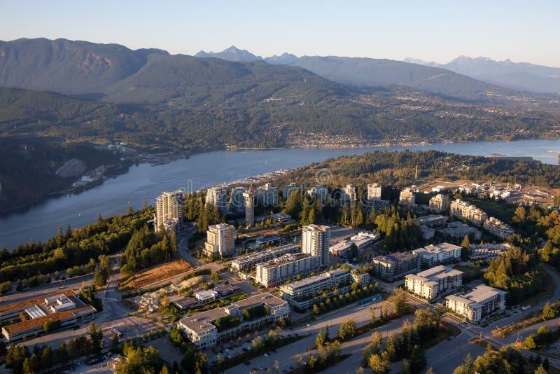 Vista aerea della montagna di Burnaby immagine stock