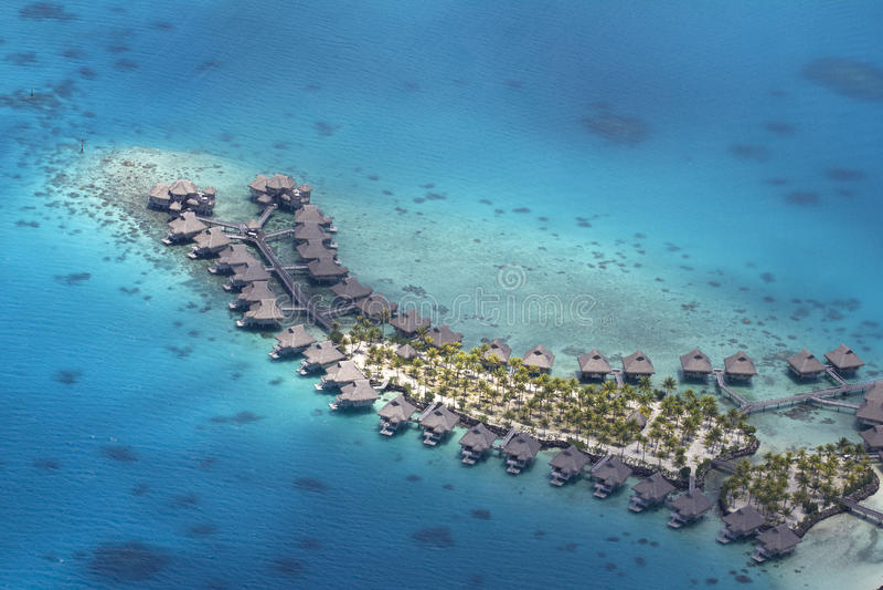 Vista aerea della Polinesia fotografie stock libere da diritti