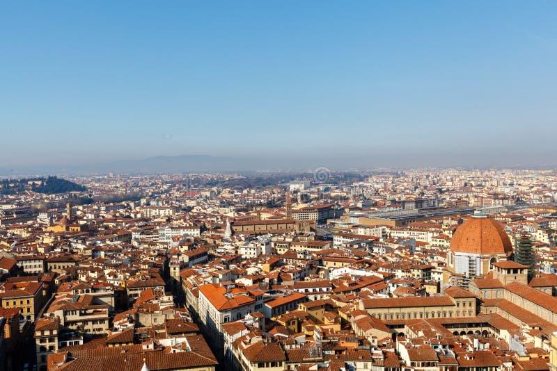 Vista aerea della presa di Firenze da duome di Firenze fotografie stock libere da diritti