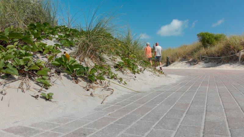 Vista aerea della spiaggia del sud, Miami immagine stock