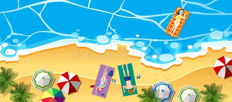 Vista aerea della spiaggia illustrazione di stock
