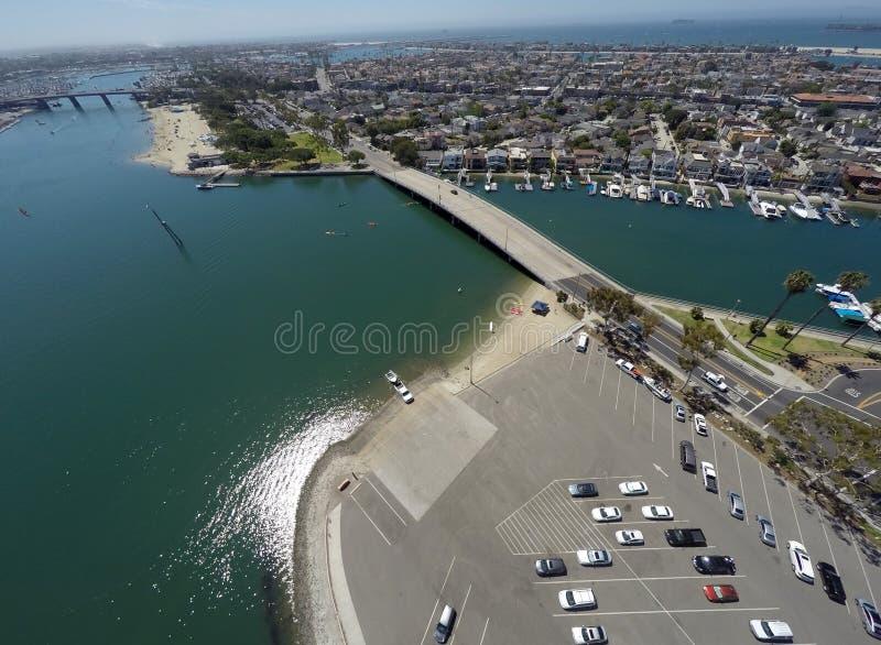 Vista aerea della spiaggia delle madri fotografia stock