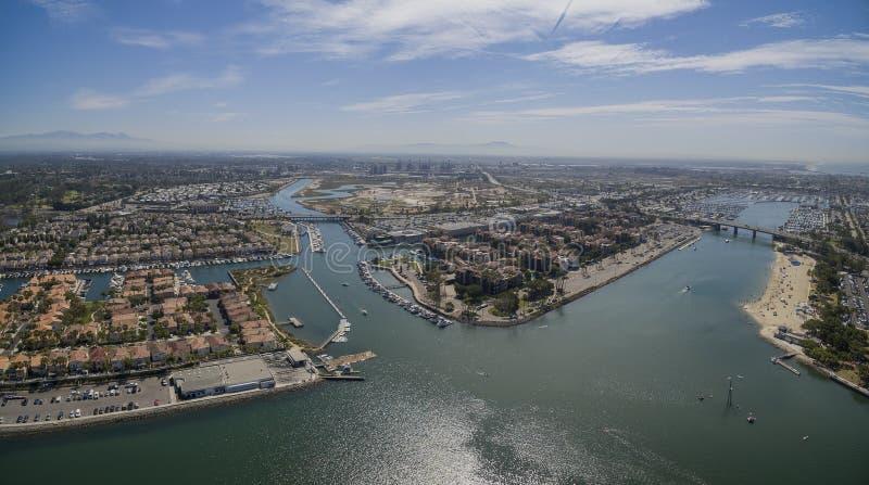 Vista aerea della spiaggia delle madri fotografia stock libera da diritti