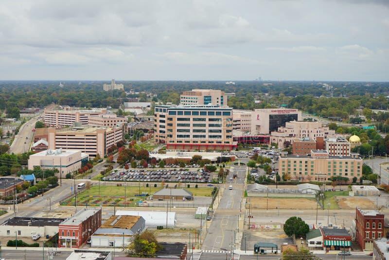 Vista aerea della st Jude Children Hospital fotografia stock libera da diritti