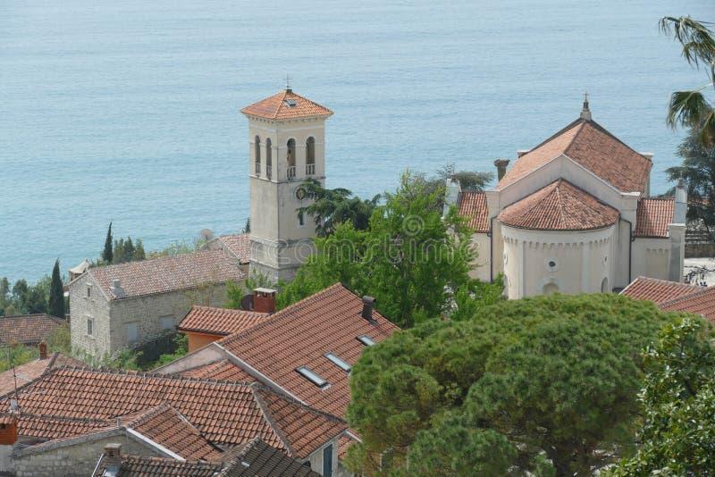 Vista aerea della st Michael Archangel Church fotografie stock libere da diritti
