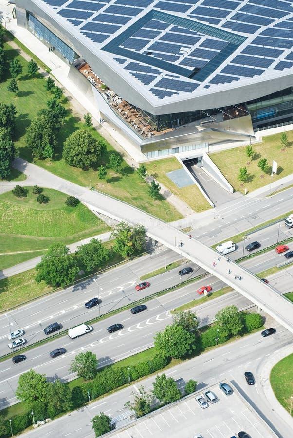 Vista aerea della strada principale immagine stock
