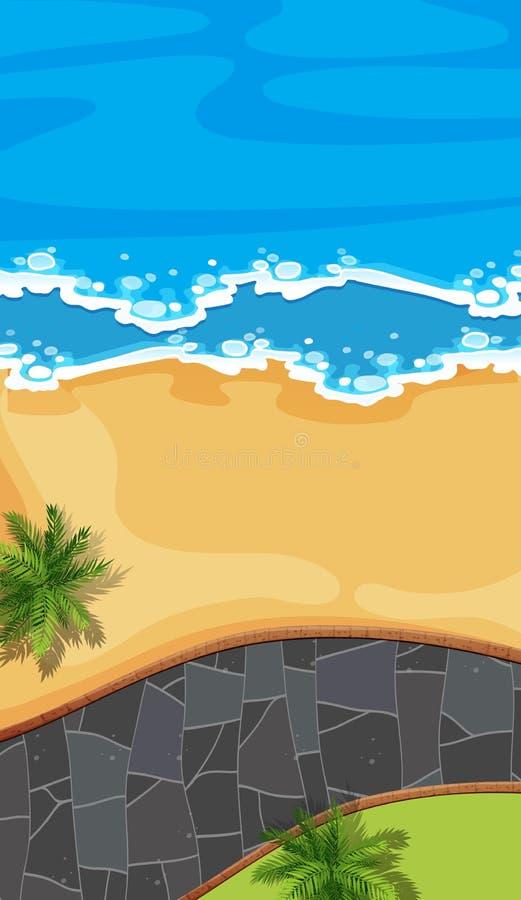 Vista aerea della strada della spiaggia royalty illustrazione gratis
