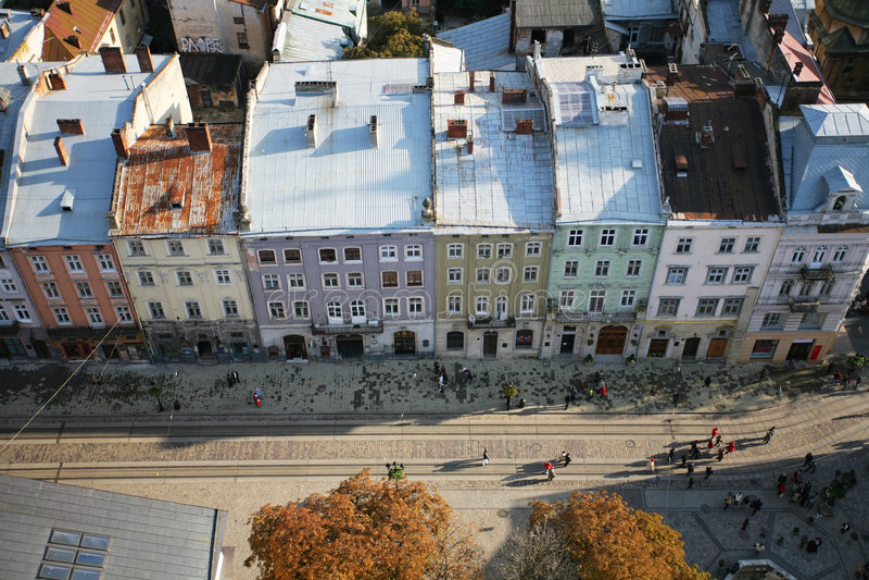 Vista aerea della via immagini stock