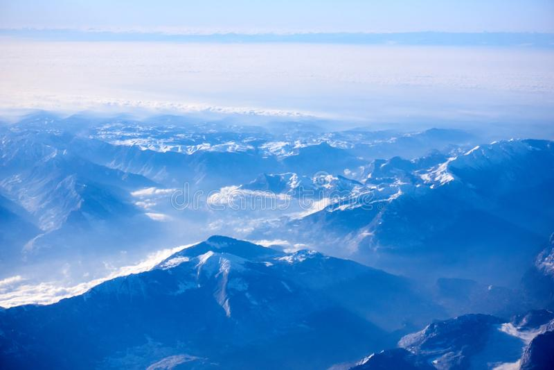 Vista aerea delle alpi, EUROPA immagini stock libere da diritti