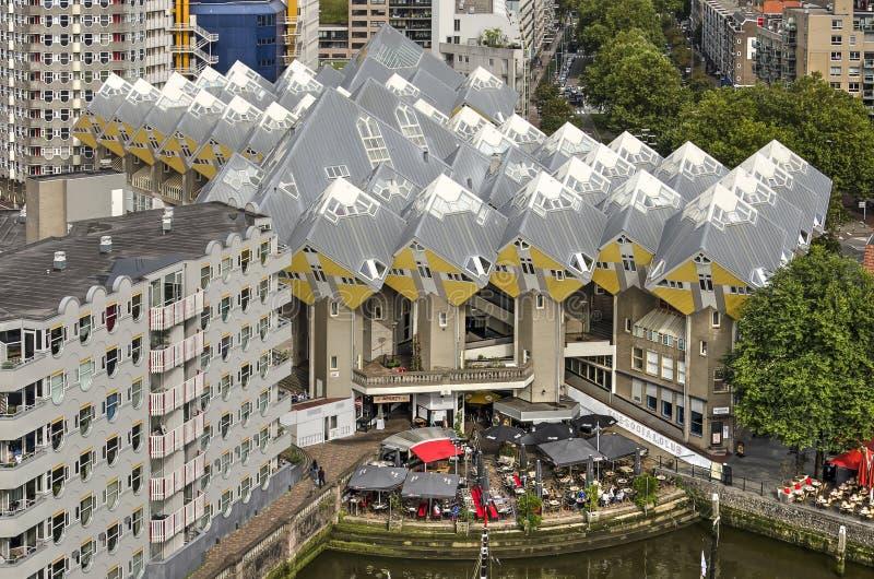 Vista aerea delle case del cubo immagine stock