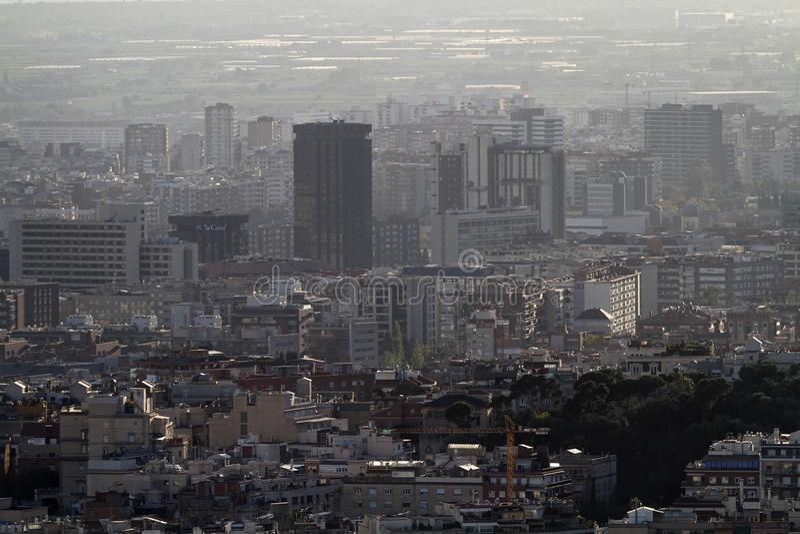 Vista aerea delle case di Barcellona fotografia stock libera da diritti