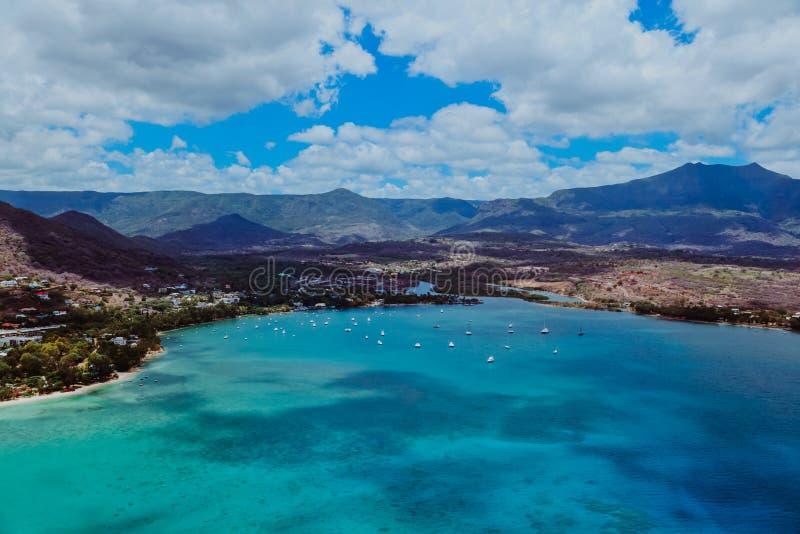 Vista aerea delle Mauritius immagine stock libera da diritti