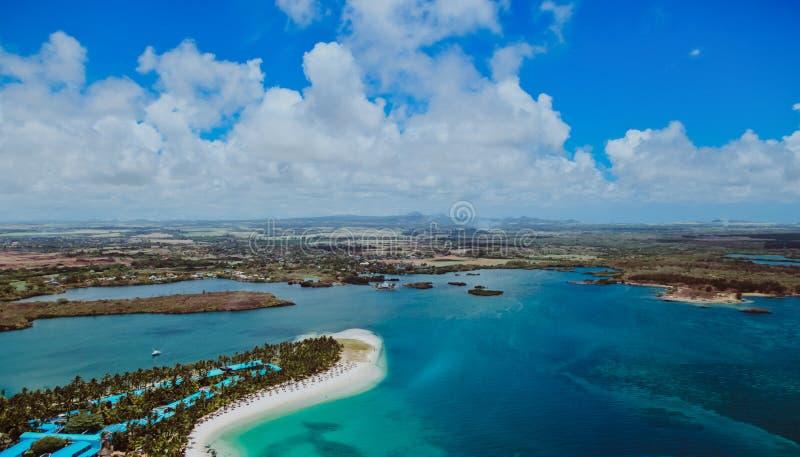 Vista aerea delle Mauritius immagini stock libere da diritti