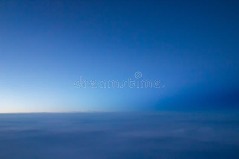Vista aerea delle nubi fotografie stock
