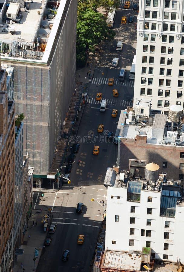 Vista aerea delle vie di Manhattan immagini stock