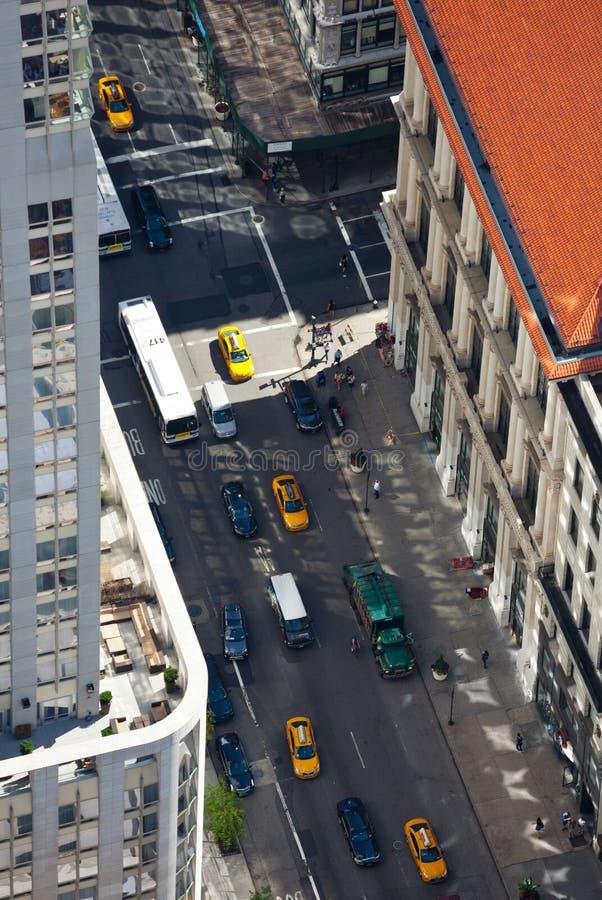 Vista aerea delle vie di Manhattan fotografia stock