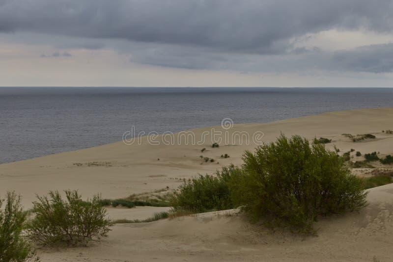 Vista aerea dello sputo di Curonian fotografie stock
