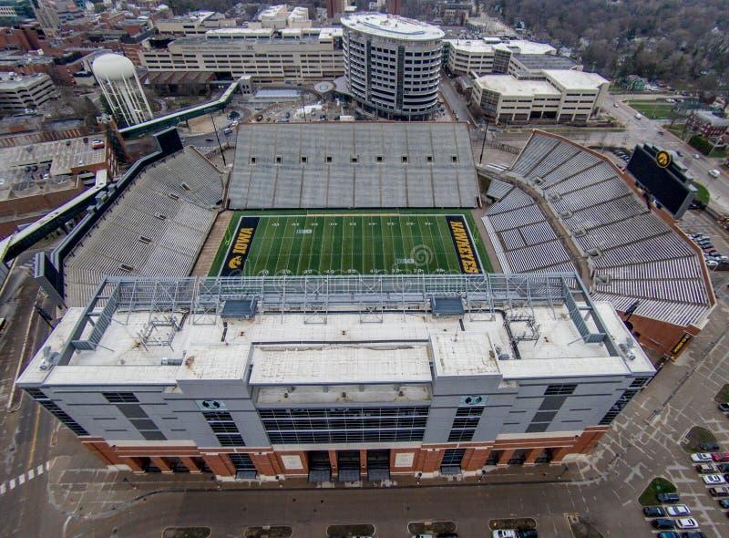 Vista aerea dello stadio del kinnick fotografia stock libera da diritti