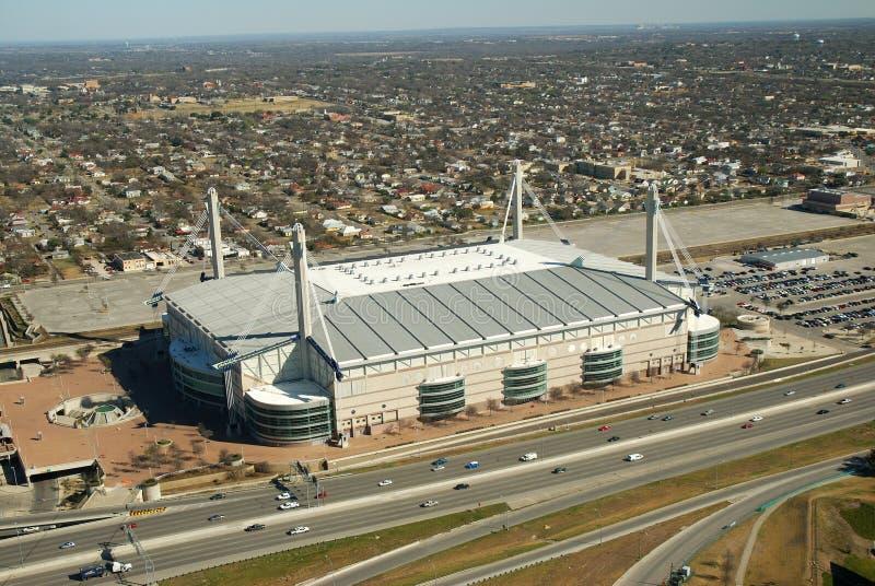 Vista aerea di Alamodome fotografia stock
